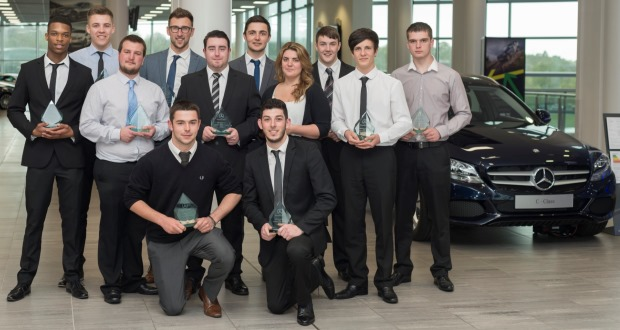 Mercedes benz awards top apprentices in retail network for Mercedes benz retail careers